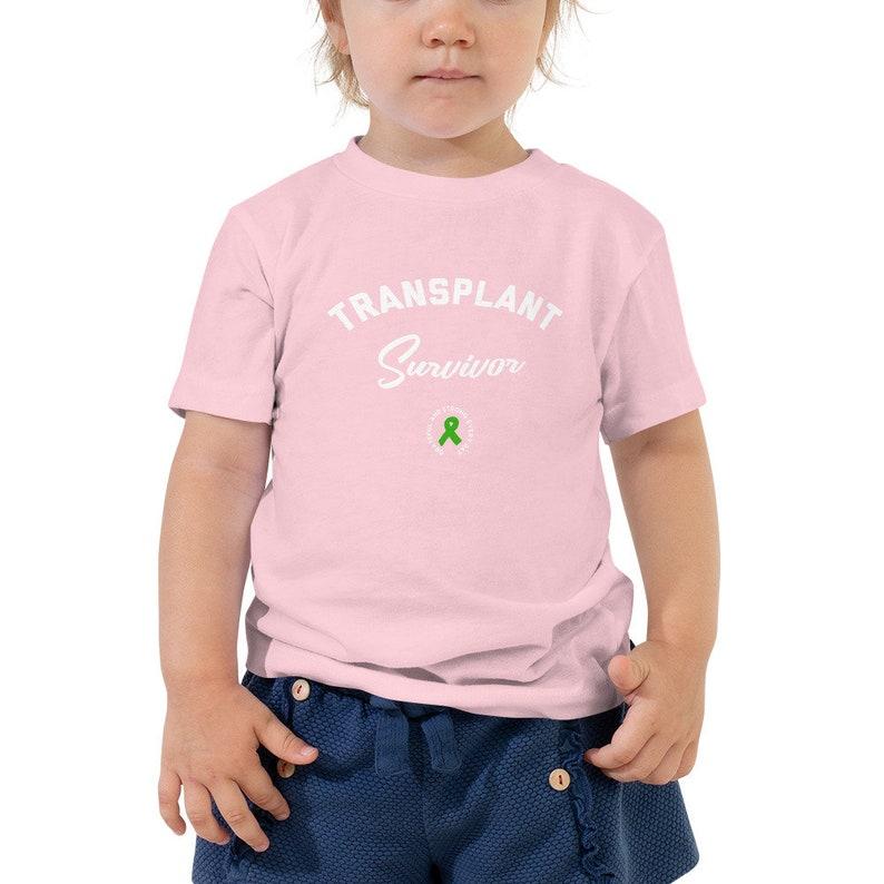 04b1dc50fae05 Transplant Survivor Toddler Size. Living with gratitude transplant green  ribbon. Inspirational tee. Unisex sizing.