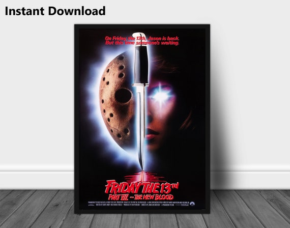 Friday The 13th Horror Movie Poster Instant Download Vintage Etsy