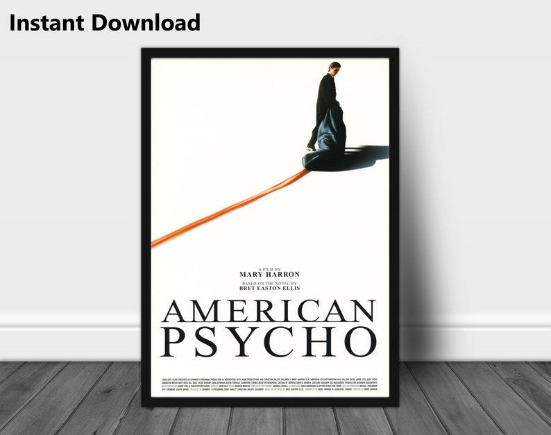American Psycho original movie poster, instant download movie poster,  printable original movie poster, digital downloadable print