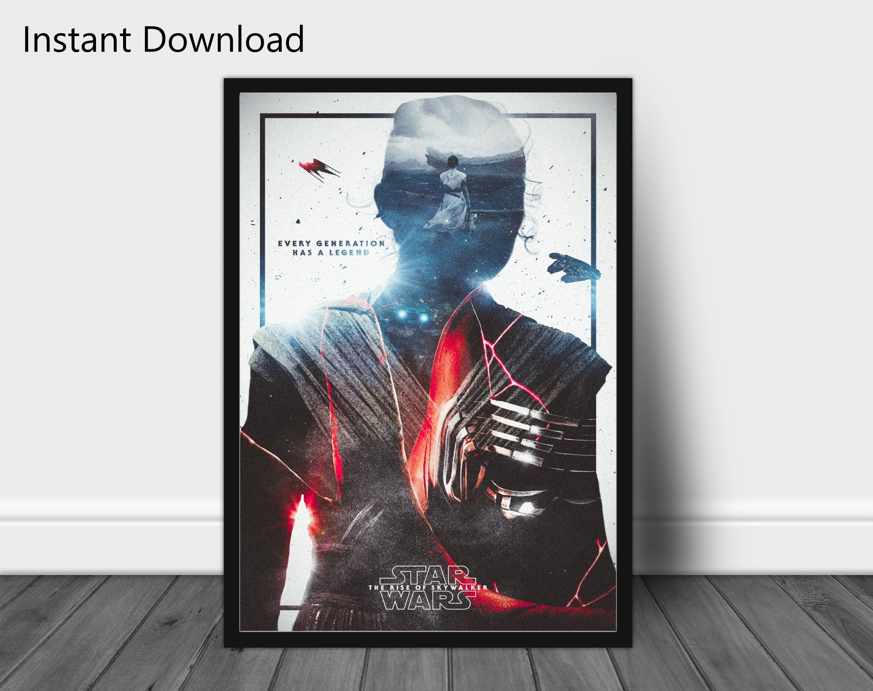 Star Wars The Rise Of Skywalker Instant Download Vintage Etsy