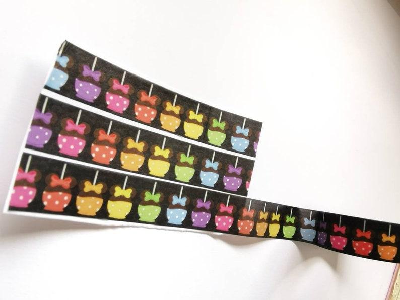 minor flaws Minnie candy apple Disney washi tape mickey snack masking tape