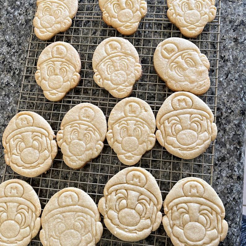 Mario Bros Cookie Cutter Set  Mario Cookie Cutter  Luigi Cookie Cutter  Fondant  Play-Doh  Kid/'s Party  Birthday  Mario Odyssey  N64