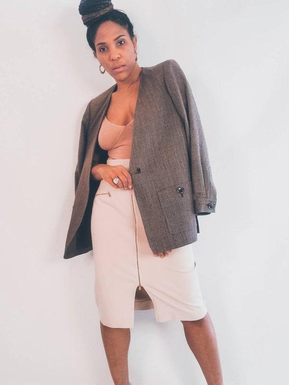 Woven Silk Blazer