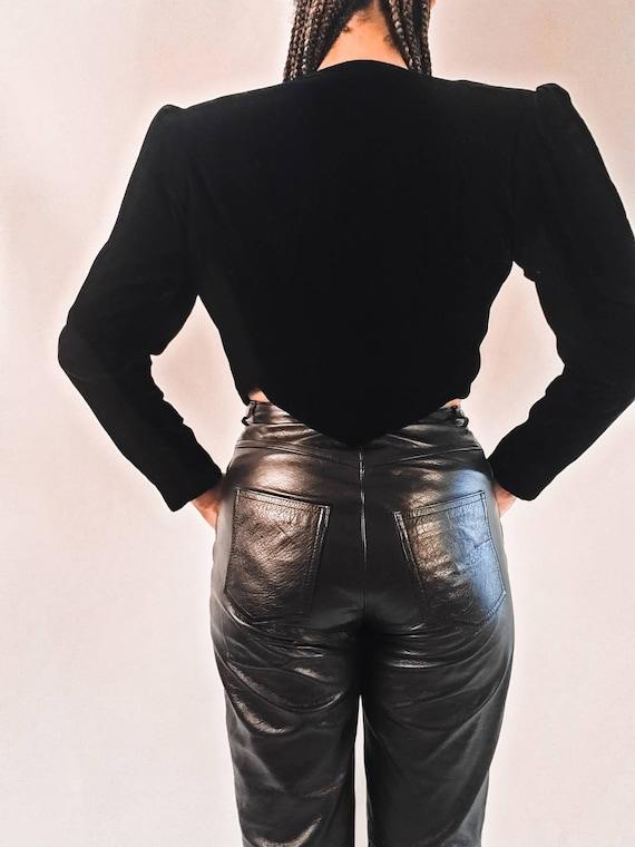 Black Leather Pants - image 4