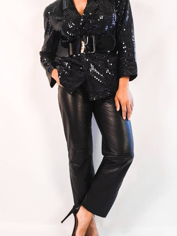 Black Leather Pants - image 1