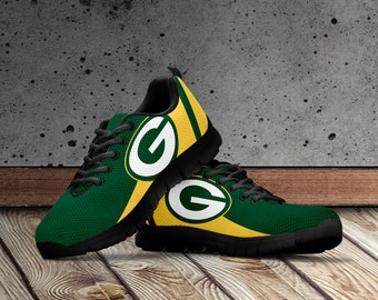 new styles 8debd 0fc3b Greenbay Packers Shoes, Greenbay Inspired Custom Shoes for Men, Women and  Kids. Greenbay Packers Football Sneakers