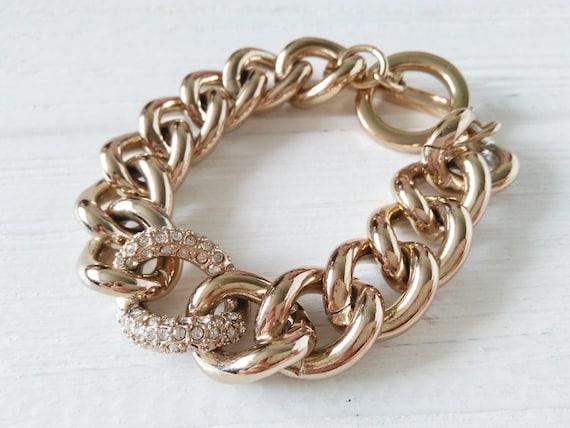 Victoria's Secret bracelet - Vintage gold jewelry