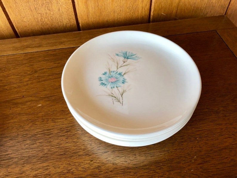 Six Vintage Dessert Plates Boutonniere Every Yours image 0