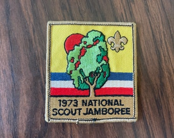 Vintage 1973 National Scout Jamboree Girl Scout Patch   Retro Kitschy Patch   70s Vintage
