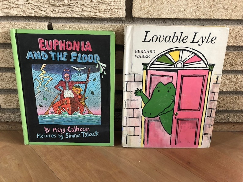 Two Vintage Children's Books  Lovable Lyle and Euphoni image 0