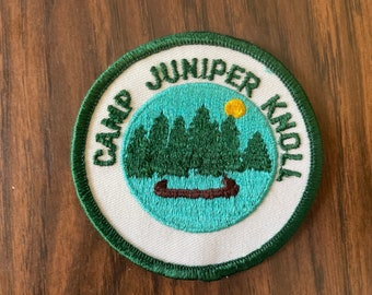 Vintage Camp Juniper Knoll Girl Scout Patch   Retro Kitschy Patch   70s Vintage