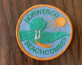 Vintage Norwesco Beachcomber Girl Scout Patch   Retro Kitschy Patch   70s Vintage
