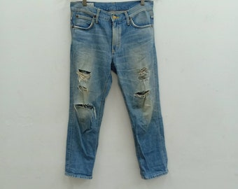 5ffcef73 Vintage 90s Lady Lee Riders Destroyed Jean/Size 32/Distressed Jean/Grunge