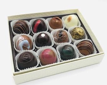 Artisan Chocolate Truffles, 12 pc box of handmade chocolates