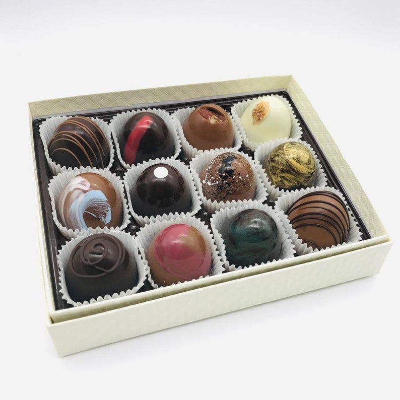Artisan Chocolate Truffles 12 pc box of handmade chocolates image 0