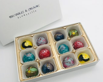 Assorted Handcrafted Chocolate Bon-Bons, 12 pc