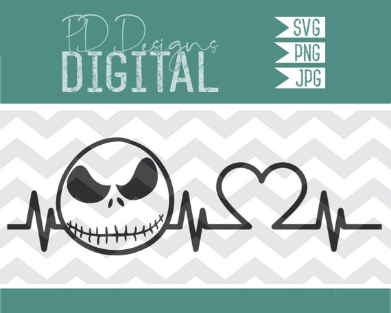 Svg Jack Heartbeat Nightmare Before Christmas Jack Etsy