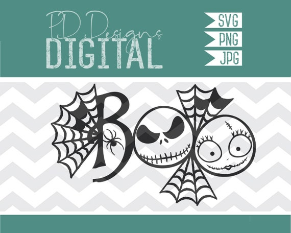 Svg Jack And Sally Boo Nightmare Before Christmas Etsy