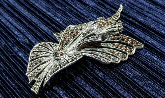 1930's Art Deco Marcasite Brooch