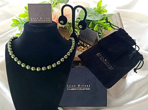 Joan Rivers Classic Collection Pearl Necklace & Ea
