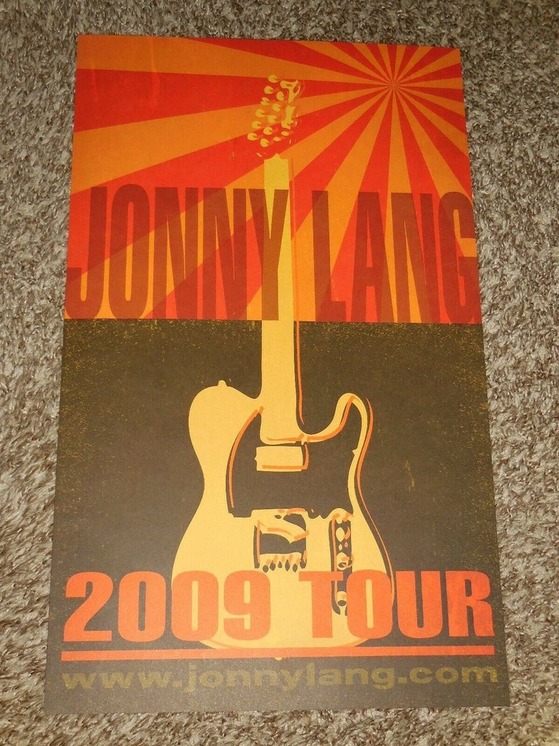 Not released to the public Jonny Lang 2009 Promo Tour Concert Poster