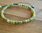Pure 14 Karat Jade Bracelet Lucky bracelet jade bracelet jade healing bracelet