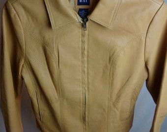 a0c8524de Gap leather jacket | Etsy