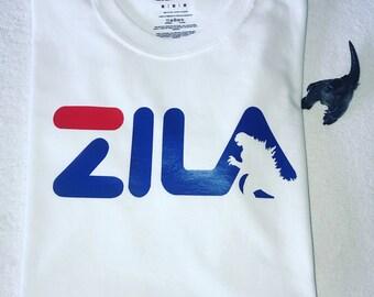 b55ef84ea Godzilla shirt!! Fila inspired