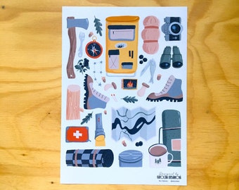 Travelling Sticker Sheet / Paper stickers / for travel lovers / Planner, Laptop Sticker / Bullet Journal