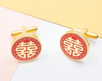 Chinese Rickshaw Large Cuff Links Wedding Cufflinks Men/'s Jewelry Father/'s Day Gift Gift for Him Vintage Rickshaw Cufflinks