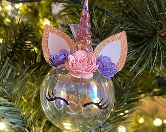 Unicorn Christmas Ornament | Unicorn Ornament | Unicorn Christmas | Unicorn | Holiday | Unicorn Party Favor
