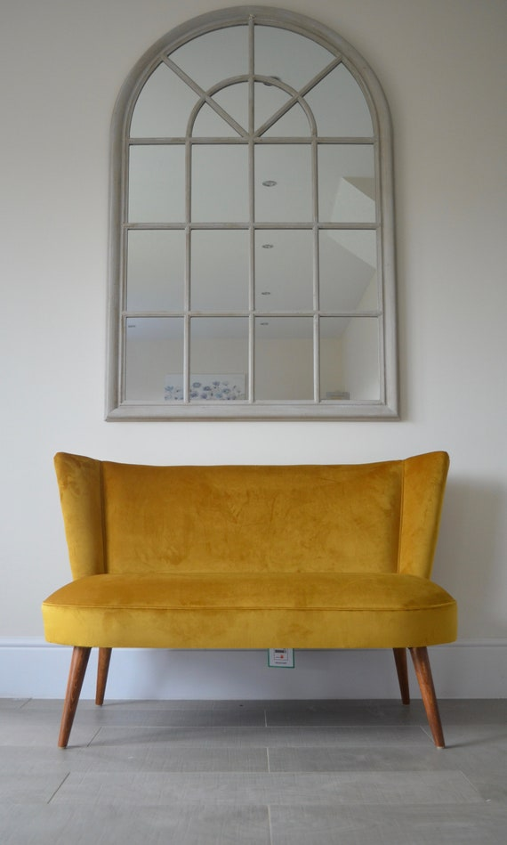 Pleasing Two Seater Cocktail Sofa Bench Seat In Mustard Antique Gold Handmade In Uk Ocoug Best Dining Table And Chair Ideas Images Ocougorg