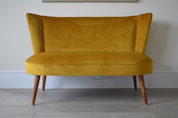 Prime Two Seater Cocktail Sofa Bench Seat In Mustard Antique Gold Handmade In Uk Ocoug Best Dining Table And Chair Ideas Images Ocougorg