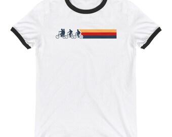 57b475d10 Vintage Stranger Things Ringer T-Shirt Mens, Custom Ringer tee Womens,  Retro Ringer T-Shirts FREE SHIPPING
