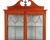 Outstanding Quality Inlaid Satinwood Display Cabinet c.1880