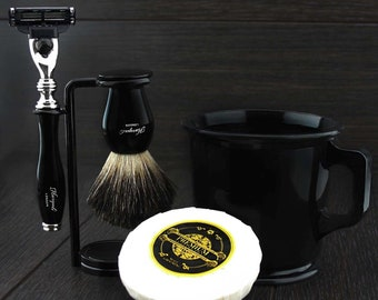 Shaving Mug Brush Set Etsy