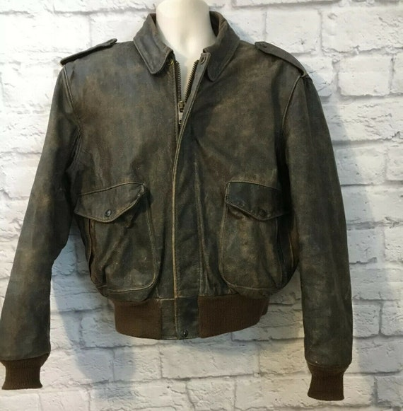 Vintage SCHOTT Brown Leather Jacket Size 44 IS674M