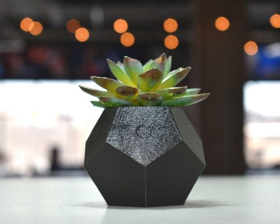 Succulent Pots Geometric Succulent Planter Unique Planter Pot Succulent Container Geometric Vase Geometric Pot 3D Printed Planter