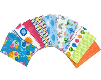 FAIR GROUND HOT AIR BALLOONS Furnishing-Quilting-Patchwork FAT QUARTERS BUNDLE