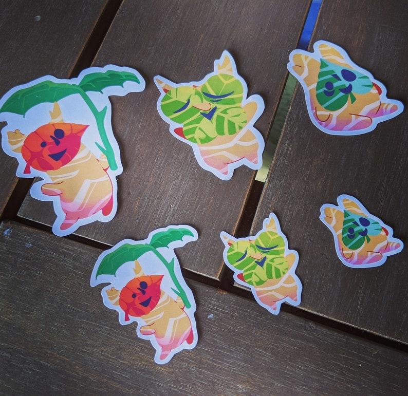 Korok Sticker Pack 2.5 inch and 1.5 inch stickers