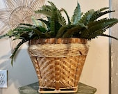 Large Wicker Planter, Pot Cover, Plant Sleeve