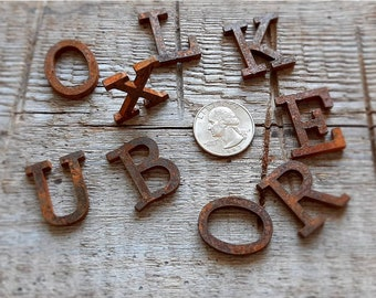 """Rusty metal letters Metal Rustic Letters 1"""", 1.5"""", 2"""", 3"""" Any Size & Font Metal Rustic  Numbers. Laser cut Not plasma cut! Personalize. DIY"""