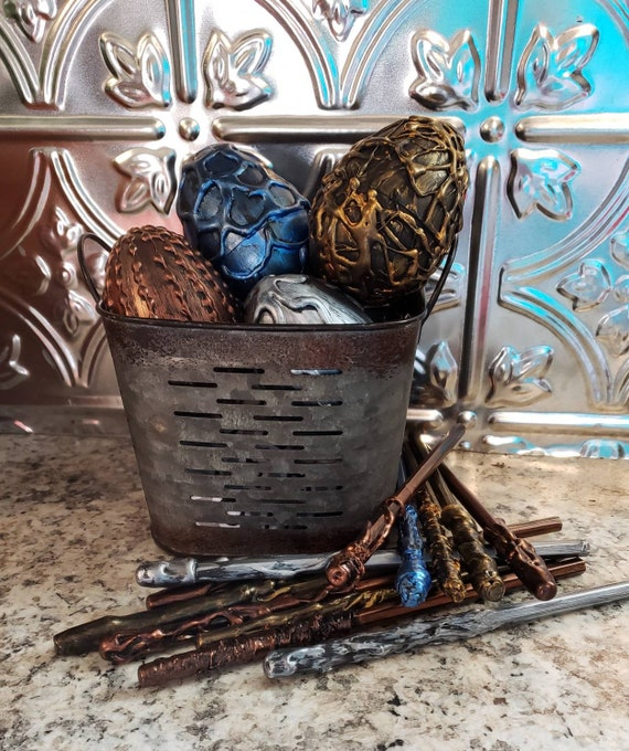 Set of 6 larger Eggs_ Harry Potter inspired _ Game of Thrones _  Dinosour_party favor_ gift idea_party decor_stuffable