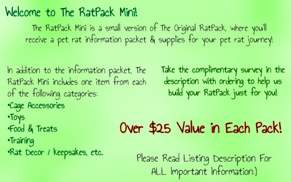 The RatPack Mini! Guides & Goodies for Pet Rat Parents