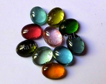 Oval Smooth Polished AAA+ Quality Loose Gemstone 6.80x8.80mm Aprox 1 Pieces Rare Tourmaline Cabochon 2.10 Carats.