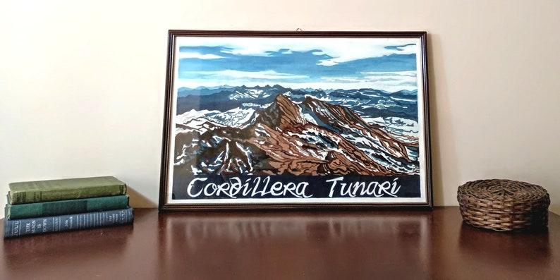 Cordillera Tunari Mount Tunari Vintage Travel Poster image 0