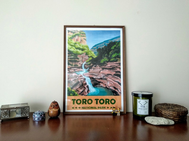 Toro Toro National Park Vintage Travel Poster Bolivia image 0