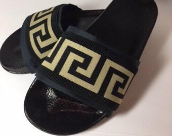 84722413078990 Versace Inspired slides