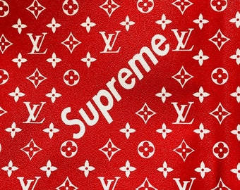Lv Supreme Fabric Vinyl Free Delivery