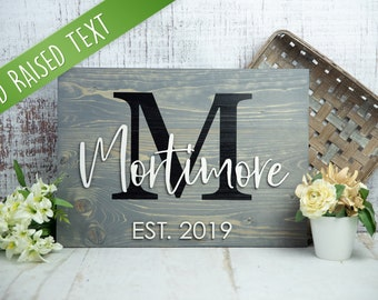 Last Name Sign | Wedding Gift | Family Name Sign | Anniversary Gift | Established Sign | Pallet Sign | Wedding Sign | Monogram Sign